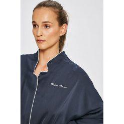 Emporio Armani - Bluzka piżamowa. Szare koszule nocne i halki marki Emporio Armani, l, z nadrukiem, z bawełny, z okrągłym kołnierzem. W wyprzedaży za 329,90 zł.