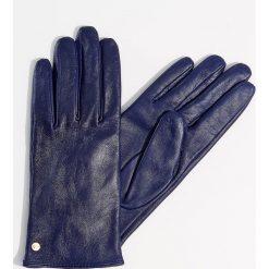 Skórzane rękawiczki - Fioletowy. Fioletowe rękawiczki damskie marki Mohito. Za 79,99 zł.