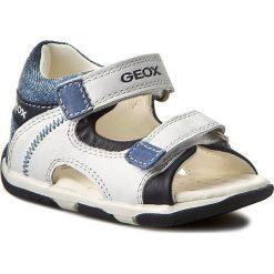 Sandały GEOX - B San.Tapuz B. A B720XA 00085 C0899 Biały/Morski. Białe sandały męskie skórzane marki Geox. W wyprzedaży za 169,00 zł.