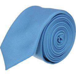 Krawat platinum niebieski slim 201. Niebieskie krawaty męskie Recman, z aplikacjami, z tkaniny, biznesowe. Za 49,00 zł.