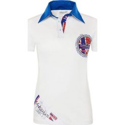 """Bluzki damskie: Koszulka polo """"Sailor"""" w kolorze białym"""