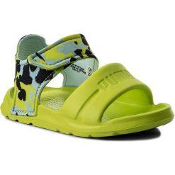 Sandały chłopięce: Sandały PUMA – Wild Sandal Injex Camo Inf 365082 01 Peacoat/Limepunch