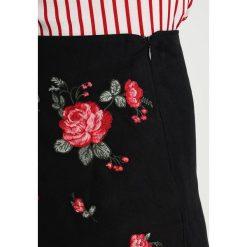 Minispódniczki: Springfield FALDABORDADO FLORES Spódnica jeansowa black