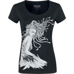 Black Premium by EMP Keep Me Going Koszulka damska czarny. Czarne bluzki z odkrytymi ramionami Black Premium by EMP, l, z nadrukiem, z okrągłym kołnierzem, z krótkim rękawem. Za 79,90 zł.