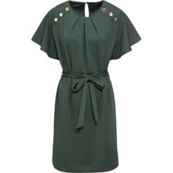 Sukienka z paskiem bonprix zielony wojskowy. Brązowe sukienki na komunię marki DOMYOS, xs, z bawełny. Za 54,99 zł.