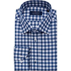 Koszula w Kratę Square. Szare koszule męskie na spinki marki LANCERTO, na zimę, m, w kratkę, z bawełny, button down. W wyprzedaży za 249,00 zł.