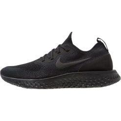 Nike Performance EPIC REACT FLYKNIT Obuwie do biegania treningowe black. Czarne buty do biegania męskie Nike Performance, z materiału. Za 629,00 zł.