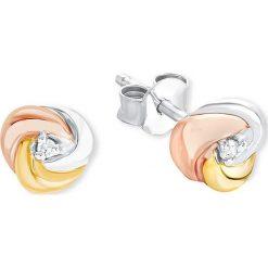 Kolczyki damskie: Srebrne kolczyki-wkrętki z cyrkoniami