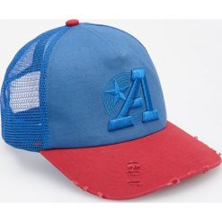 Dwukolorowa czapka z daszkiem - Niebieski. Niebieskie czapki z daszkiem męskie Reserved. W wyprzedaży za 29,99 zł.
