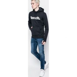 Bench - Bluza. Czarne bluzy męskie rozpinane marki Bench, l, z nadrukiem, z bawełny, z kapturem. W wyprzedaży za 159,90 zł.