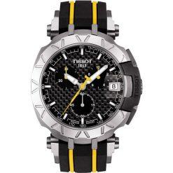 RABAT ZEGAREK TISSOT T-Race Tour de France T092.417.17.201.00. Czarne zegarki męskie TISSOT, ze stali. W wyprzedaży za 2332,00 zł.