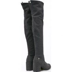 Big Star - Kozaki. Szare buty zimowe damskie marki BIG STAR, z materiału. W wyprzedaży za 139,90 zł.