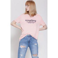 Bluzki damskie: Różowa Bluzka Influencer