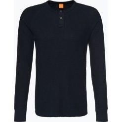 T-shirty męskie: BOSS Casual – Męska koszulka z długim rękawem – Trucker 1, niebieski