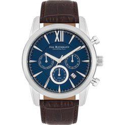 """Zegarki męskie: Zegarek kwarcowy """"Halvor"""" w kolorze brązowo-srebrno-niebieskim"""