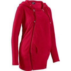 Bluza z polaru ciążowa, z wstawką niemowlęcą na nosidełko bonprix ciemnoczerwony. Czerwone bluzy ciążowe marki bonprix, z polaru. Za 129,99 zł.
