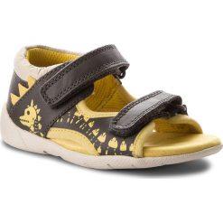 Sandały CLARKS - Fudgy Jump 261316966 Grey Combi Lea. Szare sandały męskie skórzane marki Clarks. Za 199,00 zł.