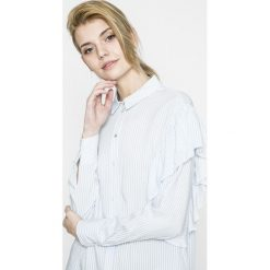 Only - Koszula. Szare koszule damskie marki ONLY, s, z bawełny, z okrągłym kołnierzem. W wyprzedaży za 59,90 zł.