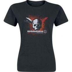 Rammstein Ins Verderben Koszulka damska czarny. Szare bluzki z odkrytymi ramionami marki BE, s, z nadrukiem, eleganckie, z klasycznym kołnierzykiem. Za 99,90 zł.