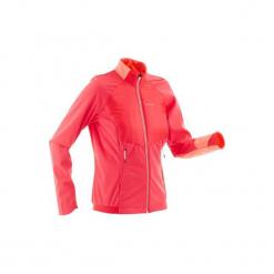 Bluza narciarska Warm XC S 550 damska. Czerwone bluzy rozpinane damskie INOVIK, l, z elastanu. Za 199,99 zł.