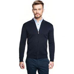 Sweter colbert stójka granatowy. Niebieskie swetry klasyczne męskie Recman, m, ze stójką. Za 260,00 zł.