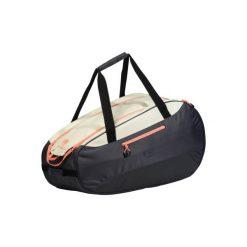 Torba do sportów rakietowych SB160. Czarne torby podróżne marki DOMYOS, z materiału, duże. Za 129,99 zł.