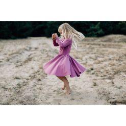 Sukienka liliowa Angelina. Szare sukienki dziewczęce z falbanami Pakamera. Za 125,00 zł.
