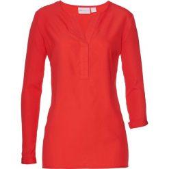 Długa tunika bonprix czerwony sygnałowy. Czerwone tuniki damskie z długim rękawem bonprix. Za 74,99 zł.