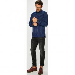 Tommy Jeans - Koszula. Czarne koszule męskie jeansowe Tommy Jeans, l, w kratkę, z klasycznym kołnierzykiem, z długim rękawem. Za 299,90 zł.