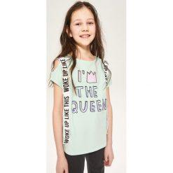 Bluzki dziewczęce: Bluzka typu hiszpanka - Turkusowy