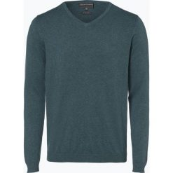 Finshley & Harding - Sweter męski, zielony. Zielone swetry klasyczne męskie Finshley & Harding, l, z bawełny. Za 129,95 zł.