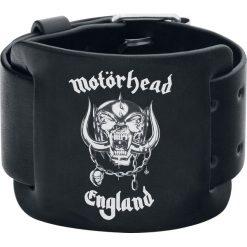 Bransoletki damskie na nogę: Motörhead England Bransoletka skórzana czarny