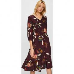 Medicine - Sukienka Hand Made. Brązowe sukienki rozkloszowane marki MEDICINE, na co dzień, l, z tkaniny, casualowe. Za 179,90 zł.