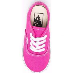 Vans - Tenisówki. Różowe buty sportowe dziewczęce marki Vans, z gumy, na sznurówki. W wyprzedaży za 99,90 zł.