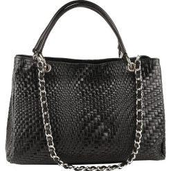 Torebki klasyczne damskie: Skórzana torebka w kolorze czarnym – 35 x 24 x 10 cm