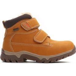 Camelowe Traperki Out In Front. Brązowe buty zimowe chłopięce Born2be, z materiału, z okrągłym noskiem, na zamek. Za 89,99 zł.