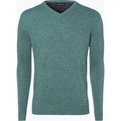 Swetry klasyczne męskie: Andrew James – Sweter męski z dodatkiem kaszmiru, biały
