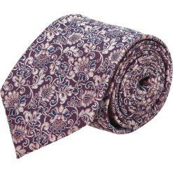 Krawaty męskie: krawat platinum bordo classic 248