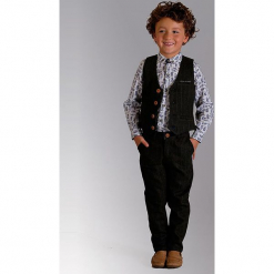 """Spodnie """"Digby"""" w kolorze ciemnozielonym. Zielone spodnie chłopięce Paglie, New G.O.L & more, w paski, z wełny. Za 112,95 zł."""