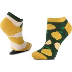 Skarpety Niskie Unisex MANY MORNINGS - The Lemons Kolorowy. Brązowe skarpetki męskie marki Many Mornings, w kolorowe wzory, z bawełny. Za 19,00 zł.