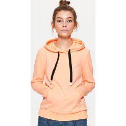 Bluzy rozpinane damskie: Bluza kangurka - Pomarańczowy
