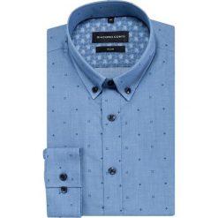 Koszula SIMONE slim KDNS000419. Niebieskie koszule męskie na spinki Giacomo Conti, na lato, m, z bawełny, button down. Za 169,00 zł.