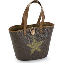 Shopper bag damskie: Shopper bag w kolorze brązowym – 45 x 32 x 20 cm