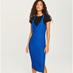 Sukienka na szelkach - Niebieski. Niebieskie sukienki na komunię marki Reserved, l. Za 99,99 zł.