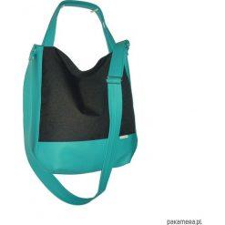 Shopper bag damskie: 5644 ankate, duża czarna torba na ramię, 2w1