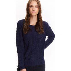 Swetry klasyczne damskie: SWETER DŁUGI RĘKAW DAMSKI, W WARKOCZE