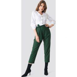 Spodnie damskie: Trendyol Spodnie z zakładkami - Green