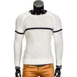 SWETER MĘSKI E97 - BIAŁY. Białe swetry klasyczne męskie Inny, m. Za 59,00 zł.