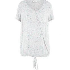 Tunika bluzkowa z nadrukiem bonprix biały z nadrukiem. Białe tuniki damskie z nadrukiem marki bonprix. Za 37,99 zł.