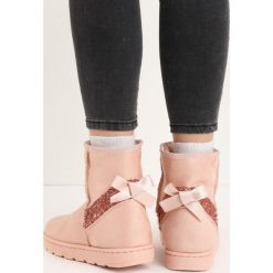 Buty zimowe damskie: Różowe Śniegowce Diamond Snow
